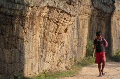 Umfassungsmauer der Tempelanlage TaProhm, Kambodscha