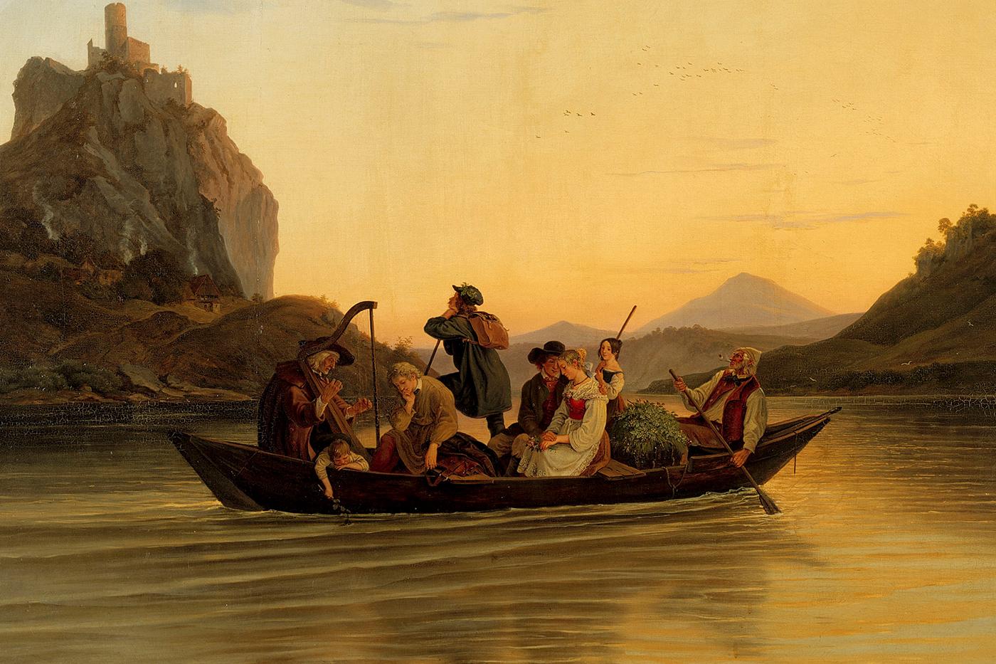 Überfahrt am Schreckenstein von Ludwig Richter, 1840